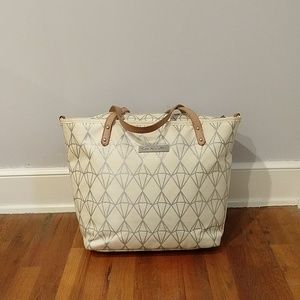 Petunia pickle bottom Shimmering St. Michele Tote
